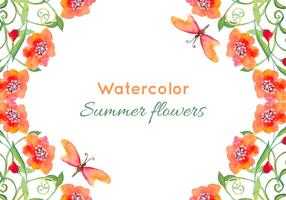 Free Vector Watercolor Poppies Background