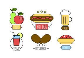 Vector Set of Fast Food Meals