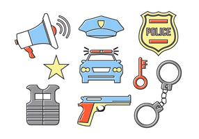 Police Accessories in Vector