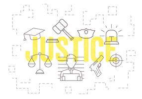 Vector Set of Justice Icons