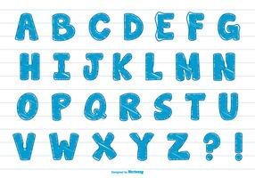 Cute Scribble Style Alphabet Set