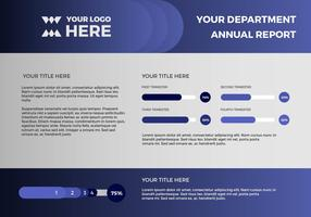 Free Annual Report Vector Presentation 13