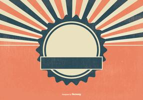 Blank Retro Sunburst Background