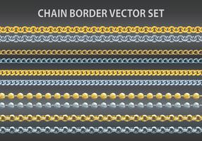 Chain border vector set