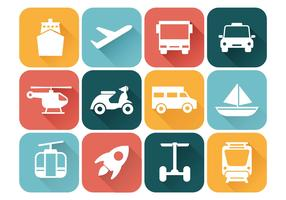 Free Transportation Icons Vector