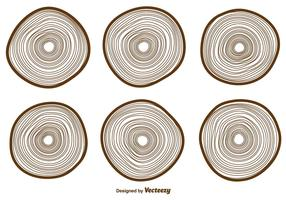 Vector Tree Rings Icons Collection