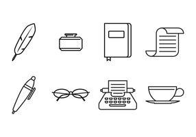 Writer Line Icon