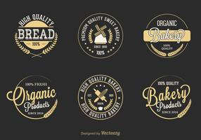 Free Retro Bakery Vector Labels