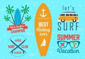 Free Vector Surfing Graphics and Emblems