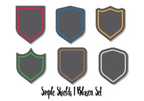 Blason Shield Vector Set Flat