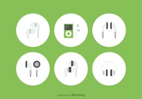 Free Ear Buds Vector Icons