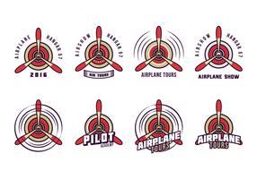 Free Biplane Propeller Logo Vector