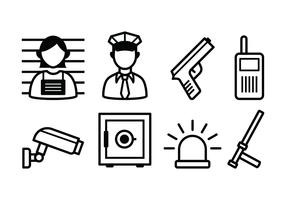 Free Police And Crime Icon Set