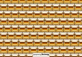 Vector Golden Bricks Seamless Pattern - Vector Elements