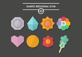 Pokemon Badges Kanto Vector