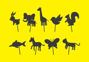 Animal Shadow Puppet Vectors