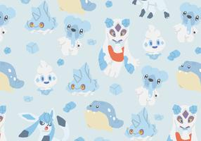 Ice Type Pokemon Pattern