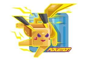 Stylized Fighting Pokemon Vector