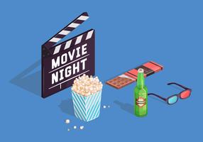 Movie Night Vector Elements