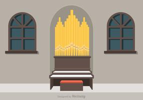 Free Pipe Organ Vector Illustration