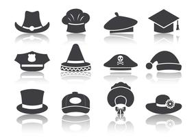 Free Black Hat Icons Vector