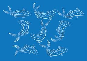 Mackerel Fish Vector Ions