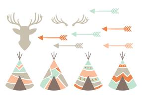Native American Vector Icons
