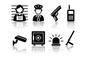 Free Minimalist Police And Crime Icon Set