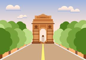 India Gate Illustration Vector