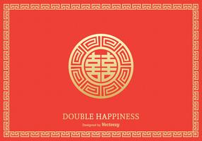 Free Double Happiness Symbol Vector Design