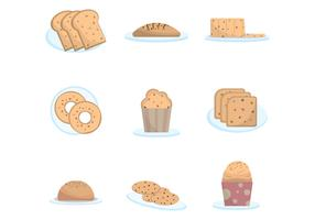 Free Raisin Cakes Vector