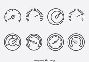 Speedometer And Tachometer Symbol Icons