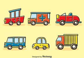 Cartoon Vehicle Vector Set