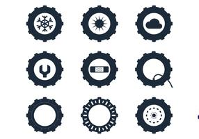 Tractor Tire Icons