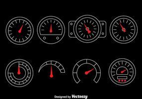Tachometer Vector Set