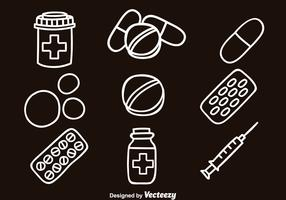 Medicie Hand Draw Icons