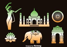 India Element Vector Set