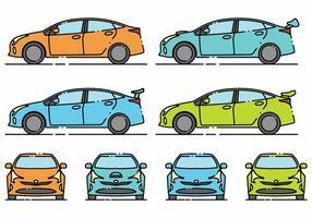 Minimlaist Prius Icon Set