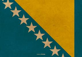Grunge Flag of Bosnia