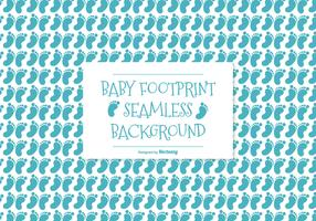 Baby Footprint Seamless Pattern Background