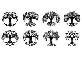 Set Of Celtic Tree Vector