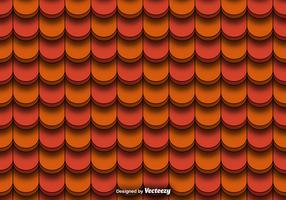 Seamless Pattern Of Red Clay Roof Tiles Vector