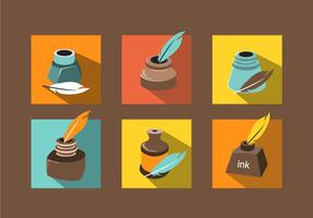 Various Ink Pot Vector