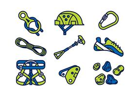 CLIMBING WALL EQUIPMENT VECTOR