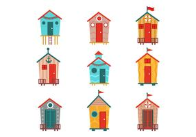 Free Various of Beach Hut Vectors