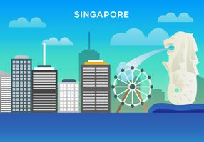 Free Singapore Illustration Vector