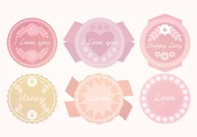 Vector Cute Pastel Badges