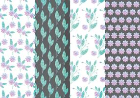 Vector Lilac Floral Patterns