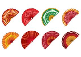 Set Of Spanish Fan Vector