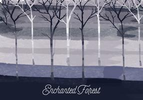 Vector Enchanted Forest Illustration